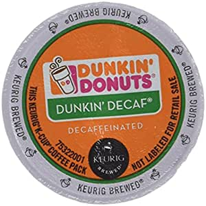 Amazon.com : Dunkin Donuts Decaf Coffee K-Cups For Keurig ...