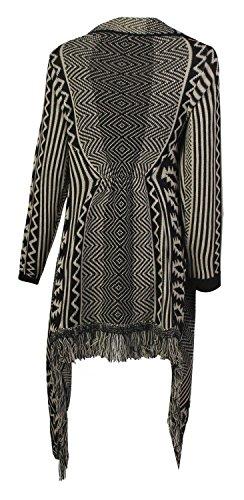 Forever Women's Aztec Diamond Print Knitted Waterfall Cardigan