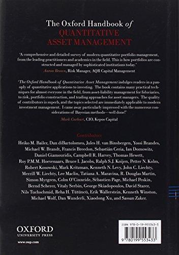 The Oxford Handbook of Quantitative Asset Management (Oxford Handbooks)