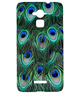 Letz Dezine Peacock wings Printed Design Mobile Back Case Cover for Coolpad Note 3