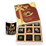 Tempting Surprises Of Dark Chocolate Box With Birthday Mug - Chocholik Belgium Chocolates