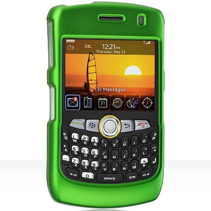New Green Rubberized Phone Cover for BlackBerry Curve 8350i Protector Case