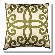 Rose Tree Quaternary Green Throw Pillow