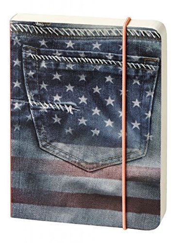 Notebook Notebook More Flexible Cardboard-Cover USA Flying Flag Pants Pocket A6 10 X14 cm