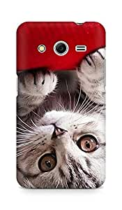 Amez designer printed 3d premium high quality back case cover for Samsung Galaxy Core 2 (kitty)