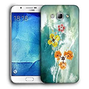 Snoogg Geometric Shapes Printed Protective Phone Back Case Cover For Samsung Galaxy A8