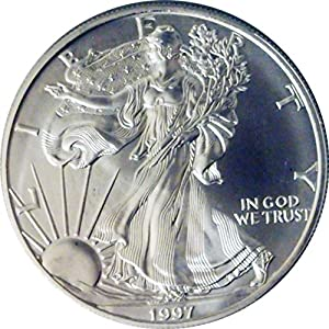 1997 US 999 SILVER EAGLE OUNCE OZ $1 DOLLAR COIN BU UNC