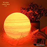 Hyodream Galaxy Lamp Planet Light for Kids Gift for Women USB Charging and Touch and Remote Control Brightness 3D Printed 16colors Jupiter Night Light (5.9 in)