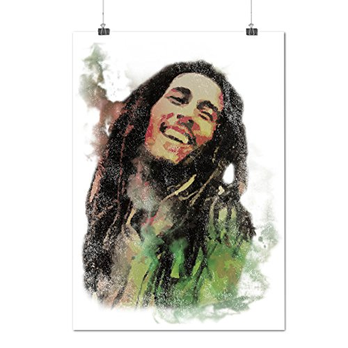 Bob Marley Sorridente Rasta Opaco/Lucida Poster A3 (42cm x 30cm) | Wellcoda