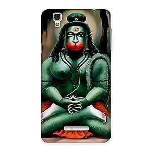 Premium Hanuman Ji Back Case Cover for Yu Yureka