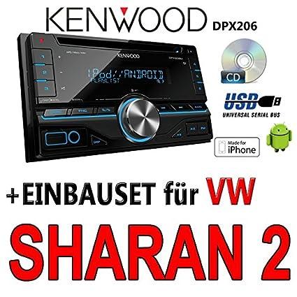 VW sharan 2-kenwood dPX 206-2DIN uSB avec kit de montage