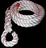 "Rope Fit 1.5"" x 15' Poly Dacron Climbing Rope"