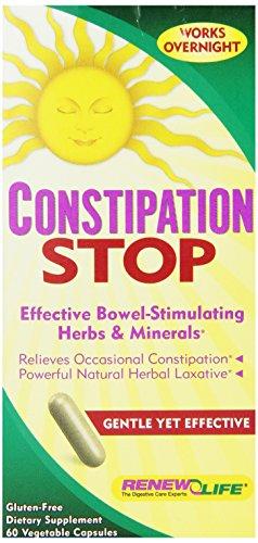 Renew Life Dietary Fiber Supplement, Constipation stop, 60 Count