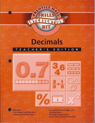 Decimals Intervention Unit Workbook Teacher's Edition: Part of Math Skills Intervention Kit PDF Download Free