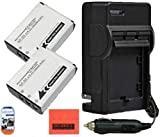 Big Mike'S Pack Of 2 Np-85 Batteries And Charger Kit For Fujifilm Finepix Sl240 Sl260 Sl280 Sl300 Sl305 Sl1000 Digital Camera + More!!