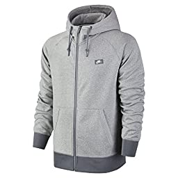 Nike White/Cool Grey/Heather AW77 Shoebox Full-Zip Hoodie (M)