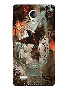 TREECASE Designer Printed Soft Silicone Back Case Cover For Vivo Y21