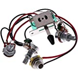 New High Quality Kmise® Wiring Harness Prewired/5-way Switch/jack 500k Pots/for Fender Strat Guitar