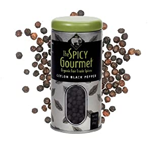 The Spicy Gourmet Organic Whole Black Pepper 30 Oz by The Spicy Gourmet