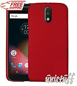 Unistuff™ Matte Hard Shell Frosted Ultra Thin Bumper Back Case Cover for Motorola Moto G 4th Gen / Moto G4 / Moto G Plus, 4th Gen / Moto G4 Plus (Red)