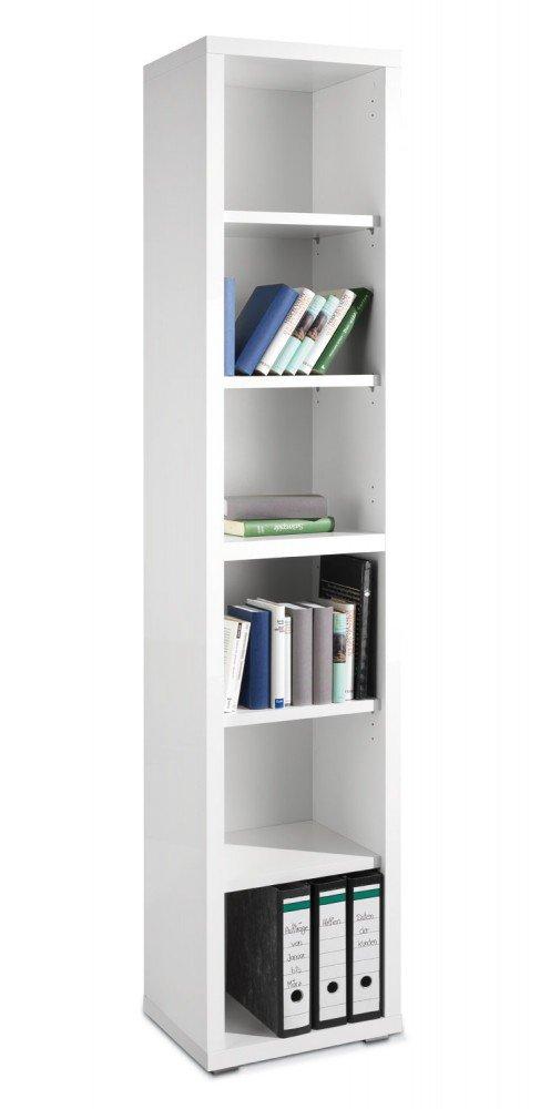 Regal schmal und hoch 44cm x 220cm weiß Silke2 günstig online kaufen