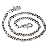 Mens Classically Bold Metal Double Clip Wallet Chain by Landes Nickel One Size