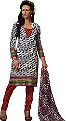Suryajyoti Women's Cotton Dress Material (Purple_Free Size)