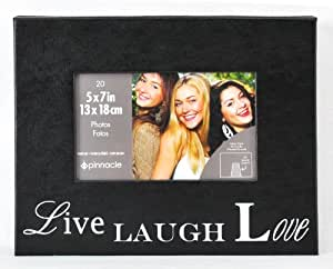 Pinnacle Frames and Accents Live, Laugh, Love 20-Pocket 5x7 Photo Album