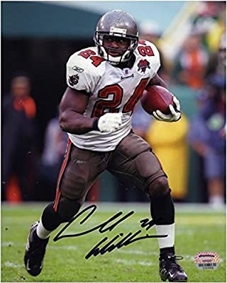 "Carnell ""Cadillac"" Williams Tampa Bay Buccaneers Autographed 8"" x 10"" Running With Ball Photograph - Fanatics Authentic Certified"