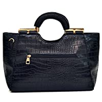 Dasein Loop Handle Faux Leather Laptop, Tablet, iPad Bag Satchel Briefcase Shoulder Handbag Purse