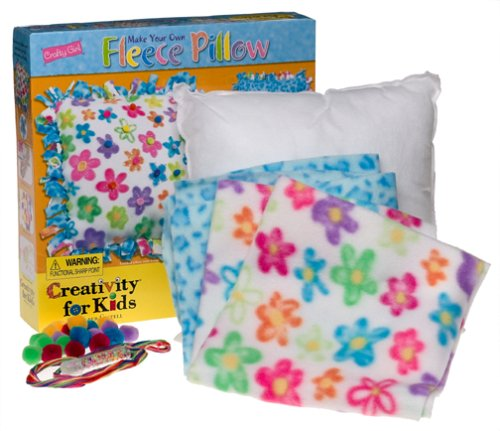 Creativity For Kids Crafty Girl Make Your Own Fleece Pillow front-723811