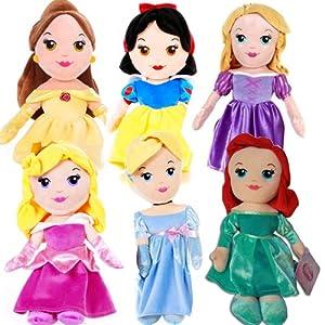 "12"" Official Disney Princess Soft Plush Cuddly Toy Gift Set Girls Fun Cute Kids"