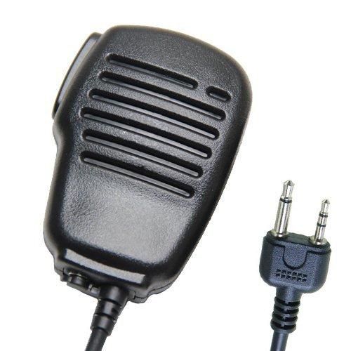 Rainproof Shoulder Remote Speaker Mic Microphone Ptt For 2-Pin Midland Alan Radio