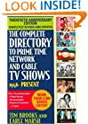 The Complete Directory to Prime Time Network and Cable TV Shows, Seventh Edition