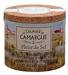 Fleur De Sel De Camargue French Sea Salt 125 G 4.4 Oz