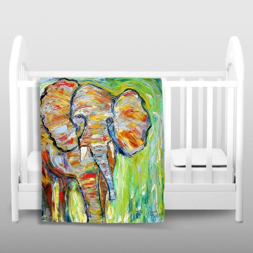 Blanket Ultra Soft Fuzzy Fleece From Dianoche Designs Home Decor Unique, Cool, Fun, Funky, Designer, Artistic, Stylish Bedroom And Bathroom Ideas Couch Or Throw Blanket By Karen Tarlton - Wild Elephant