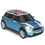 Click Car CCM660677 Mini Cooper s Wireless Mouse with Union Jack, Electric Blue