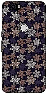 The Racoon Grip Cream Pecular Petals hard plastic printed back case / cover for Huawei Nexus 6P