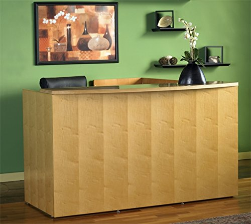 Mayline L Shaped Reception Desk W/Wood Veneer 