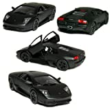 "5"" Die-cast Metal Primer Black Lamborghini Murcielago LP640 (Race Version)1/36 Scale, Pull Back N Go"