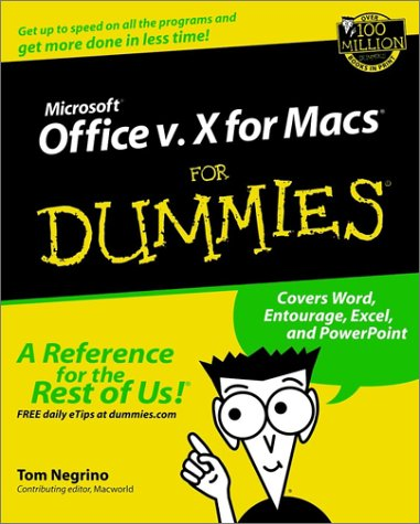 Microsoft Office v.10 for Macs For Dummies