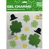Shamrocks & Leprechaun Hats St Patricks' Day Gel Window Clings