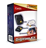 Carat Electronics DigiCam Kit Accessory Set with Battery / Charger / Case / Protective Film / for Canon PowerShot SX260 HS
