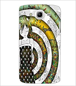 PrintDhaba Sweet Girl D-5614 Back Case Cover for SAMSUNG GALAXY MEGA 5.8 (Multi-Coloured)