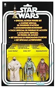 Star Wars Vintage Special 3 Action Figure Droid Set; Sand People, Boba Fett, Snaggletooth