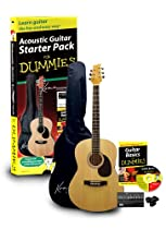 Guitar For Dummies Acoustic Guitar Starter Pack with Book and Gig Bag