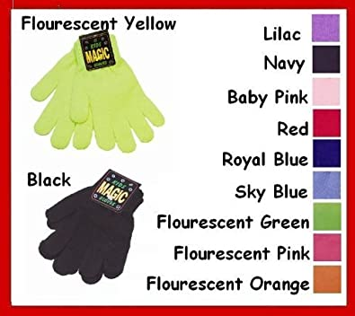 Children's Magic Stretchy Gloves (Black)