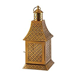 Gold Candle Lantern Exotic Moroccan Arabic Style
