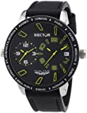 Sector Men's Quartz Watch with Black Dial Analogue Display and Black Leather Strap R3251119007
