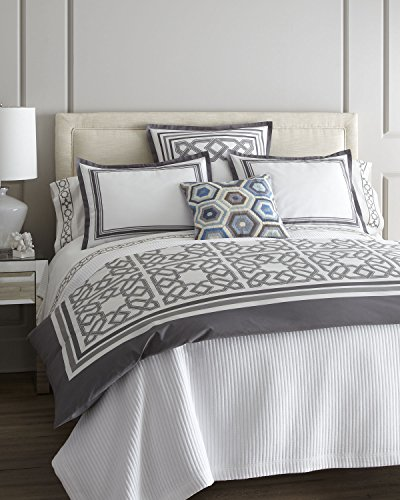 Spectacular Jonathan Adler Parish Duvet Cover Grey King